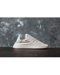 Adidas Originals - Gray Adidas Deerupt Runner J Grey One/ Lgh Solid Grey/ Gum 1 - Lyst
