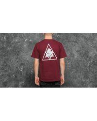 Huf Red Ambush Triple Triangle Short Sleeve Tee Maroon for men