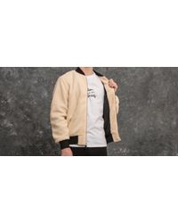 Huf Sherpa Bomber Jacket Natural for men