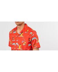 Block Party Leisure Shirt Red Aimé Leon Dore pour homme