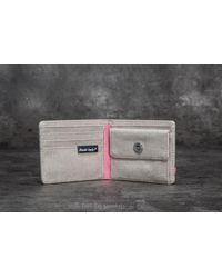 Herschel Supply Co. - Gray Roy Pl+ Wallet Light Khaki Crosshatch for Men - Lyst