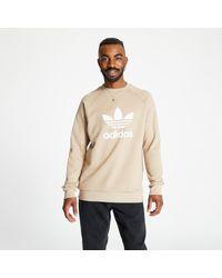Adidas Originals Green Adidas Trefoil Crewneck Trace Khaki for men