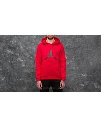 Nike Air Jumpman Fleece Pullover Hoodie Gym Red/ Black for men