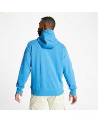 Essentials Full Zip Hoodie Mako Blue di New Balance da Uomo