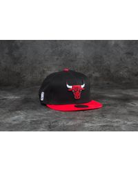 KTZ - Multicolor 9fifty Nba Team Chicago Bulls Cap Black/ Red for Men - Lyst
