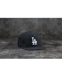 KTZ - 9fifty Lightweight Essential Los Angeles Dodgers Cap Black/ White for Men - Lyst