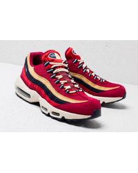492ddd3321a9 Lyst - Nike Air Max 95 Premium Red Crush  Provence Purple in Red for Men