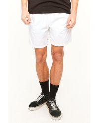 Forever 21 White 's Cotton Drawstring Shorts for men
