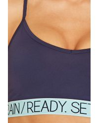 Forever 21 - Blue Low Impact - Ready Sports Bra - Lyst