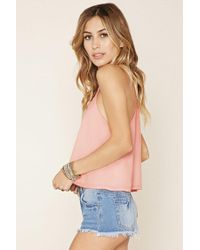 Forever 21 - Pink Crisscross-front Cami - Lyst