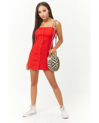 Forever 21 - Red Linen-blend Mini Dress - Lyst