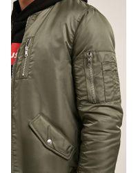 Forever 21 Green 's Padded Bomber Jacket for men