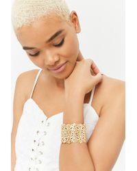 Forever 21 - Metallic Women's Filigree Cuff Bracelet - Lyst