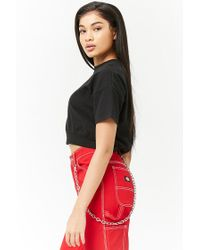 Forever 21 - Black Knit Boxy Top - Lyst