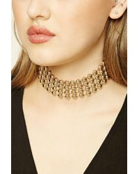Forever 21 - Metallic Beaded Choker - Lyst