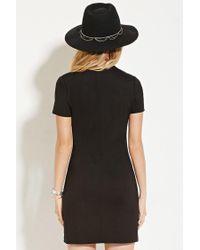 Forever 21 - Black Crisscross-neck Mini Dress - Lyst