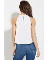 Forever 21 - White Pleated Trapeze Cami - Lyst