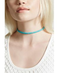 Forever 21 - Multicolor Contrast Woven Choker - Lyst