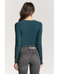 Forever 21 - Green Knit Crop Top - Lyst