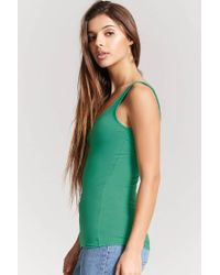 Forever 21 - Green Scoop Neck Tank Top - Lyst