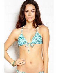 Forever 21 - Blue Glam Girl Triangle Bikini Top - Lyst