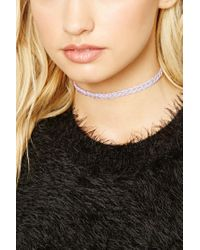 Forever 21 - Multicolor Braided Bead Choker - Lyst