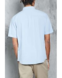 Forever 21 | Blue Slim-fit Button-front Shirt for Men | Lyst