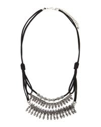 Forever 21 | Black Layered Statement Necklace | Lyst