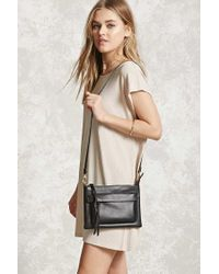 Forever 21 - Black Faux Leather Crossbody - Lyst