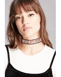 Forever 21   Multicolor Raj Floral Embroidered Choker   Lyst