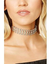 Forever 21 | Metallic Etched Geo Choker | Lyst
