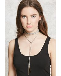 Forever 21 | Multicolor Faux Suede Layered Choker | Lyst
