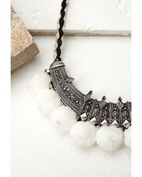 Forever 21 - Metallic Etched Bib Necklace - Lyst