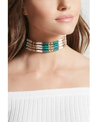 Forever 21 | Multicolor Beaded Collar Choker | Lyst