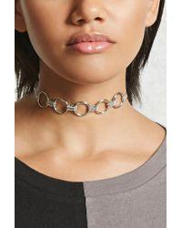 Forever 21 | Metallic O-ring Chain-link Choker | Lyst