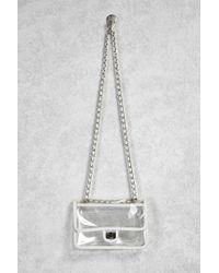 86b5ff15bfed Women's White Clear Vinyl Crossbody Chain Bag