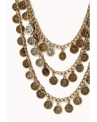 Forever 21 - Metallic Traveler Layered Coin Necklace - Lyst