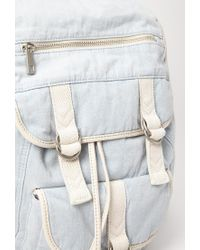 Forever 21 - Blue Drawstring Denim Backpack - Lyst
