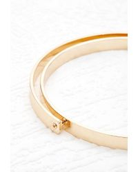 Forever 21 - Metallic Crescent Layer Bangle - Lyst