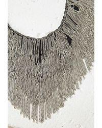 Forever 21 | Metallic Chain Fringe Bib Necklace | Lyst