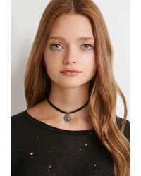 Forever 21 - Black Faux Suede Choker Set - Lyst