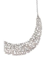 Forever 21 - Metallic Rhinestoned Bib Statement Necklace - Lyst