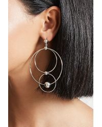 Forever 21 - Metallic Tiered Doorknocker Earrings - Lyst