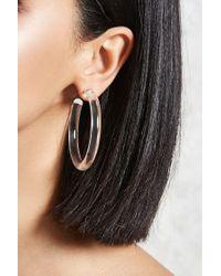 Forever 21   Multicolor Clear Acrylic Hoop Earrings   Lyst