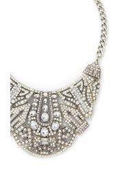 Forever 21 - Metallic Art Deco Statement Necklace - Lyst