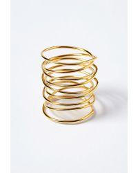 Forever 21 - Metallic Amarilo Amelia Wrap Ring - Lyst