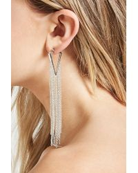 Forever 21 | Metallic Ball Chain Duster Earrings | Lyst