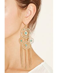 Forever 21 - Metallic Dreamcatcher Duster Earrings - Lyst
