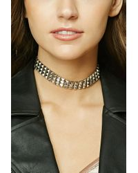 Forever 21 | Metallic Pyramid Studded Choker | Lyst