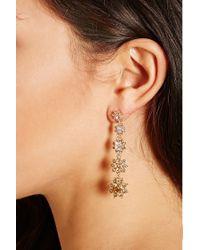 Forever 21 | Metallic Rhinestone Drop Earrings | Lyst